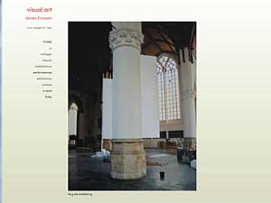 A site built for visual artist, Jeroen Fransen - living and working in Amsterdam, Holland