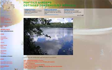 Website built for Penttilä Gardens - Finland. Websites Dutch Delta Design.